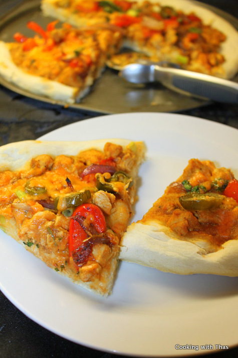 butter-chicken pizza