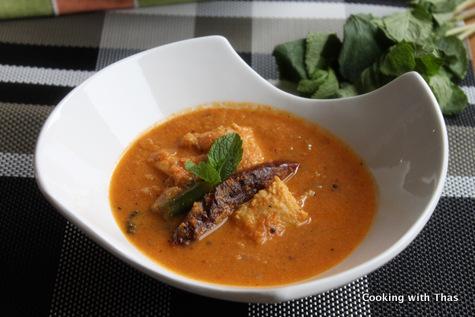 fish in tomato coocnut gravy
