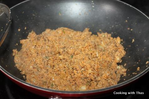grated cauliflower stir fry