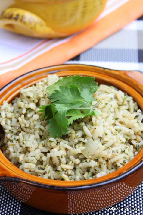cilantro mint rice