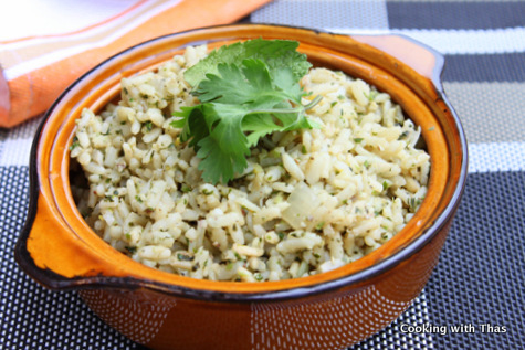 cilantro-mint rice