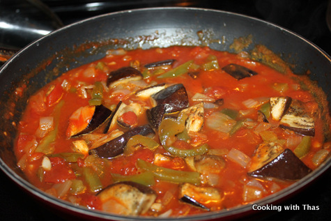 Musakka Turkish Eggplant And Tomato Stew Cooking With
