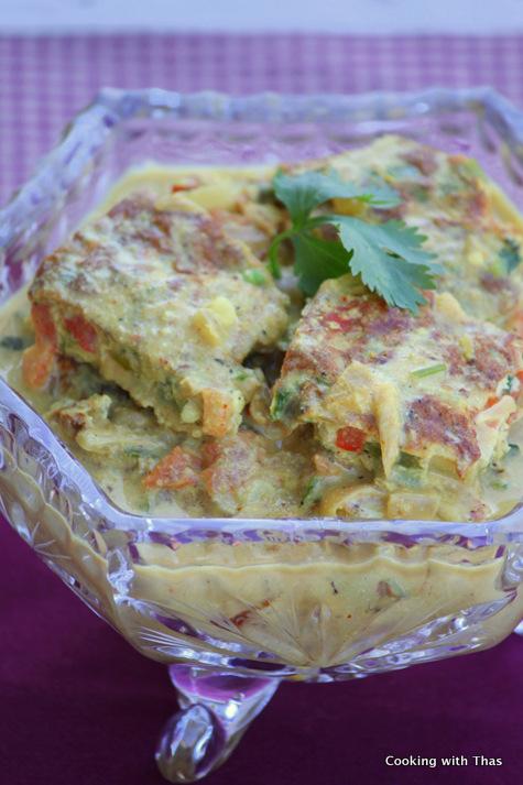 Egg Omelette Korma curry
