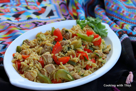 asian style orzo