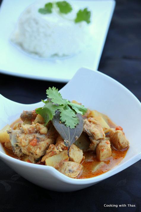 chicken-potato curry