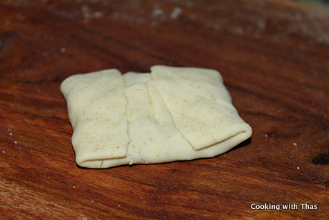 wraping the dough
