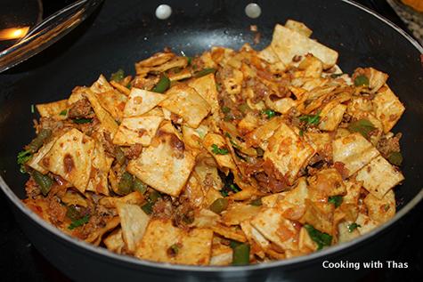 making kothu chapati