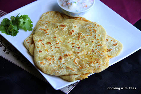 chana dal stuffed paratha