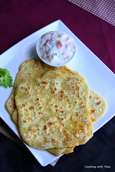 chana-dal stuffed paratha