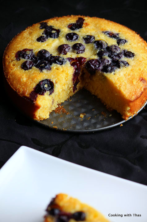 Cornmeal Blueberry Cake- Eggless Cornmeal Cake | Cooking ...