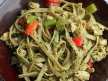 chicken-pesto pasta