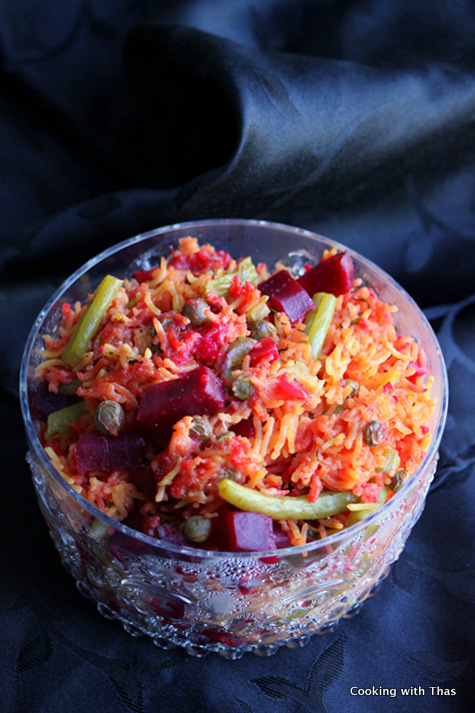 beetroot-rice pilaf