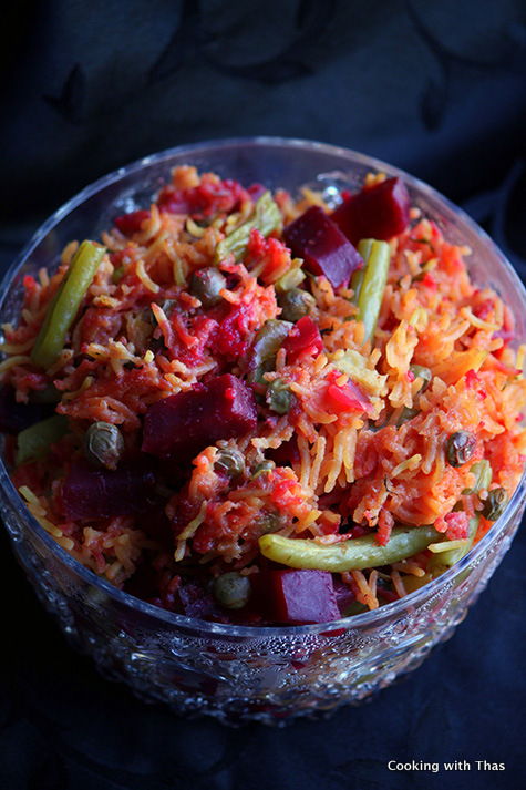 beetroot rice pilaf