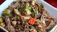 chicken soba noodle stir fry