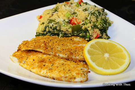 Baked Parmesan-crusted tilapia