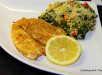 Baked parmesan crusted tilapia