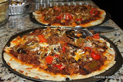 ground beef pizza