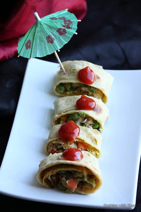 Chapati Egg rolls