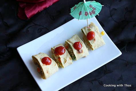 Chapati Omelette rolls