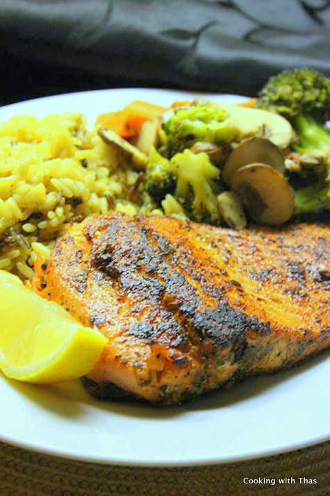 Pan fried blackened Trout