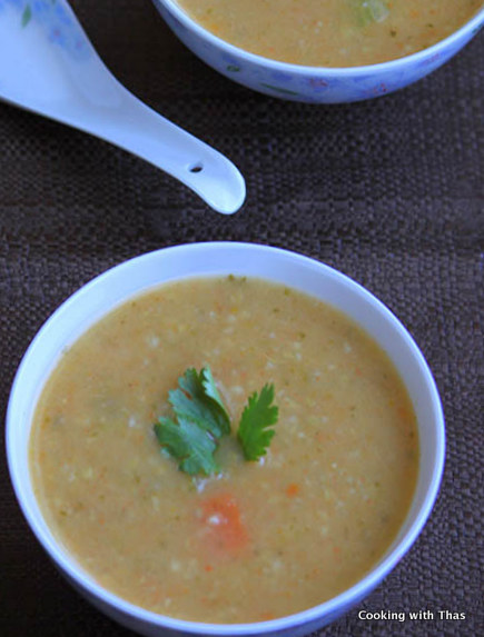 cracked wheat and veggie soup