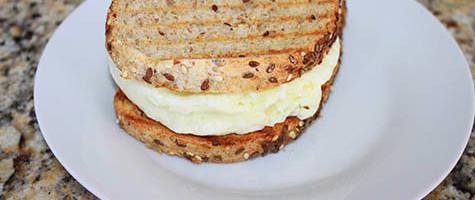 Easy Egg White Sandwich Microwaved