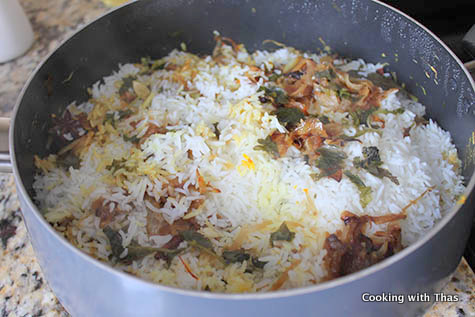 making dum biryani