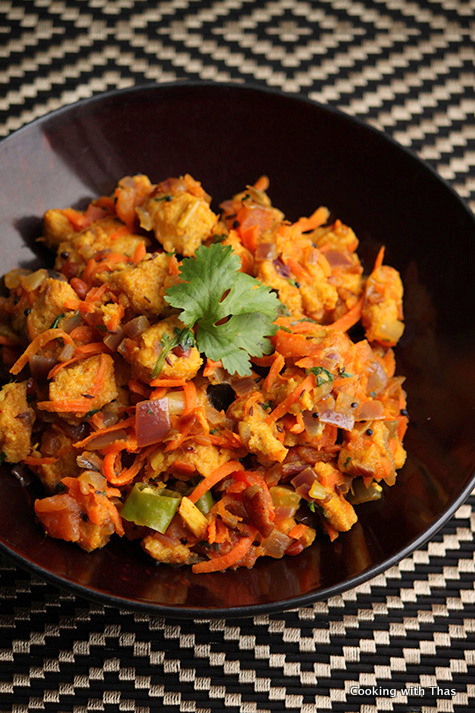 Bread upma with veggies