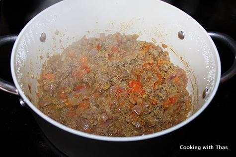 making ground beef masala
