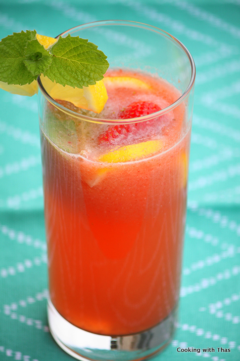 Coconut water strawberry soda