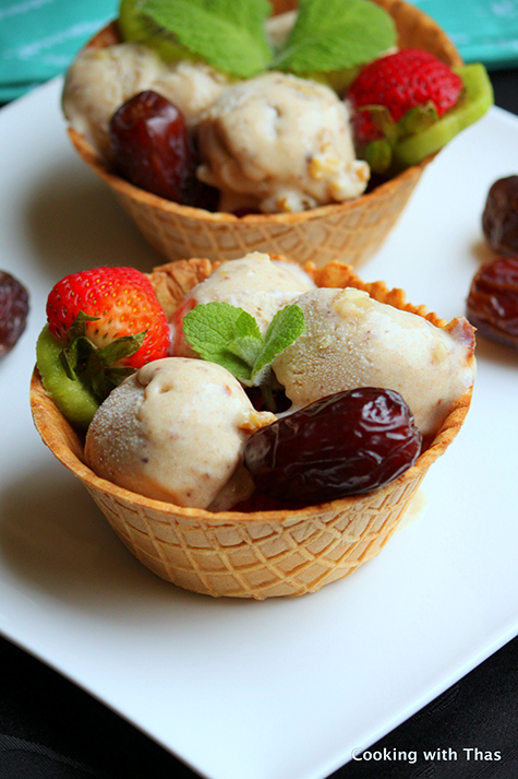 Easy Medjool Dates Ice cream
