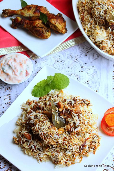Thalassery Biryani Recipe Chicken Biryani Cooking With Thas