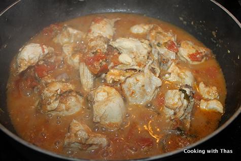 making chicken masala