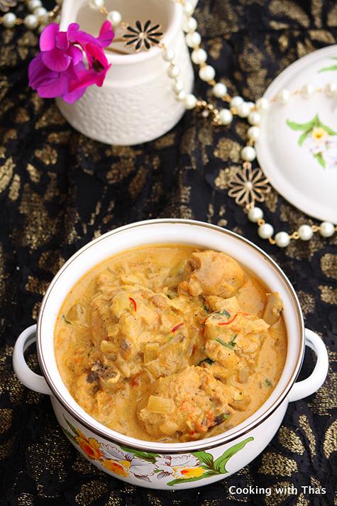Mughlai chicken and saffron-Korma