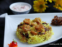 tasty shrimp biryani