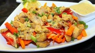 Chicken Salad with Peanut butter dressing