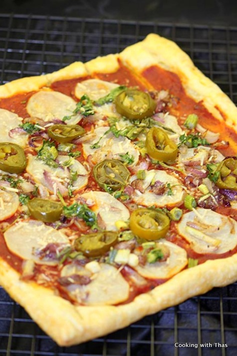 puff pastry-pizza