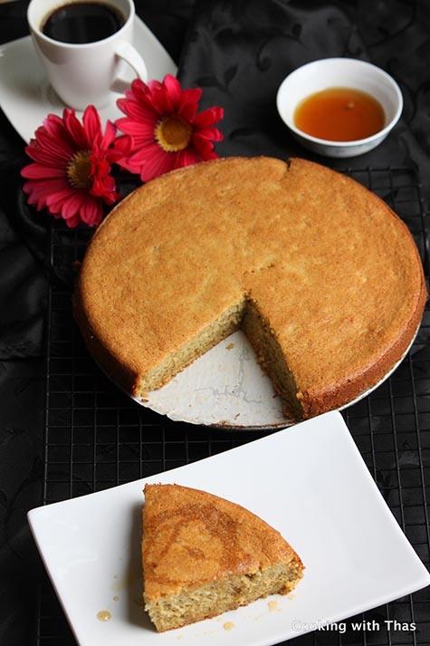 Maple-plantain cake