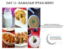 Day 11 Ramadan Iftar Menu