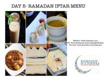 Day 5 Ramadan Iftar Menu