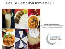 Day12 Ramadan Iftar Menu