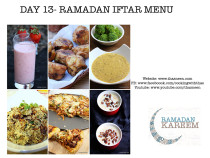Day13 Ramadan Iftar Menu