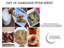 Day16 Ramadan Iftar Menu