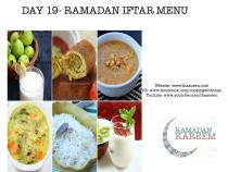 Day19 Ramadan Iftar Menu