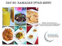 Day20 Ramadan Iftar Menu