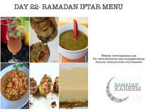 Day22 Ramadan Iftar Menu
