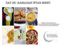 Day25 Ramadan Iftar Menu