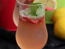 Ginger Lemon Strawberry Soda