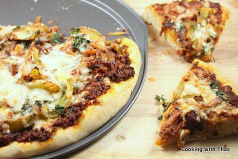 Ground-beef-Pizza