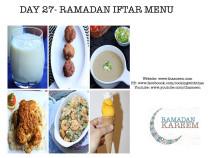 Day27 Ramadan Iftar Menu